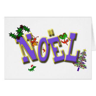 Carte Noël de Cajun Crawfish Fleur de Lis Noel