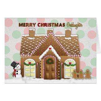 Carte Noël de Chambre de pain d'épice - filleule