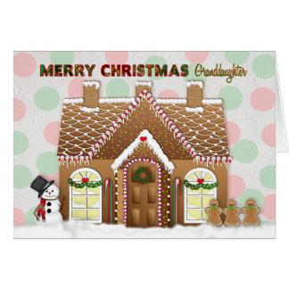 Carte Noël de Chambre de pain d'épice - petite-fille