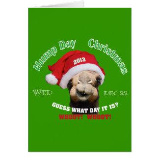 Carte Noël de chameau de journée en milieu de semaine