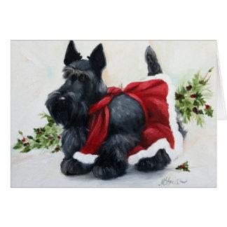 Carte Noël de chien de Terrier d'écossais de Scottie