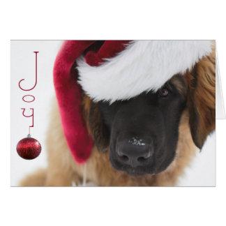 Carte Noël de chiot de Leonberger