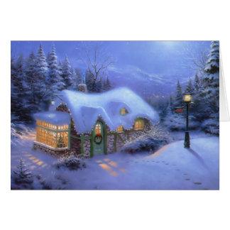 Carte Noël de cottage