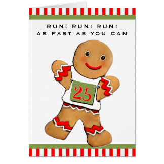 Carte Noël de coureurs