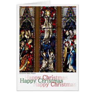 Carte Noël de fenêtre en verre teinté
