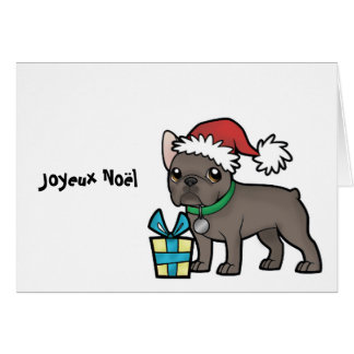 Carte Noël de Frenchie