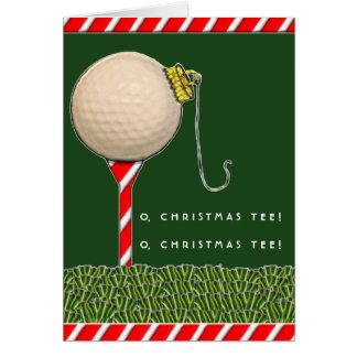 Carte Noël de golf