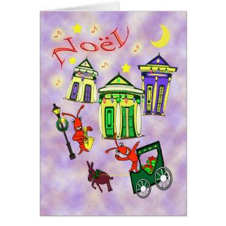 Carte Noël de la Nouvelle-Orléans Noël