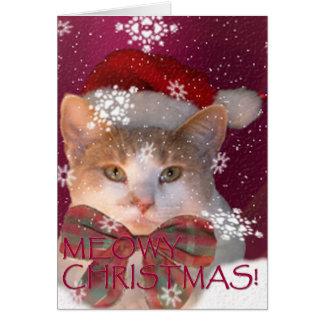 Carte Noël de Meowy !