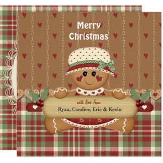 Carte Noël de pays de pain d'épice