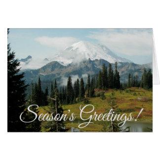 Carte Noël de paysage de montagne