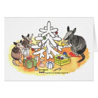 Carte Noël de tatou
