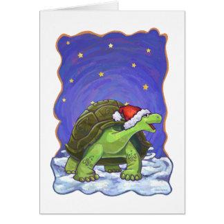 Carte Noël de tortue de nuit étoilée