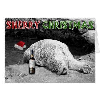 Carte Noël de xérès noir et blanc