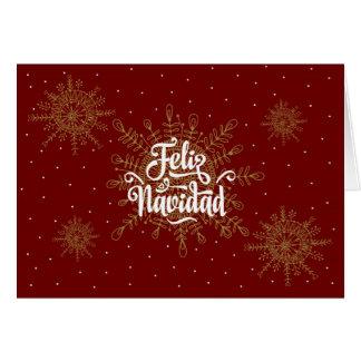 Carte Noël d'Espagnol de Feliz Navidad