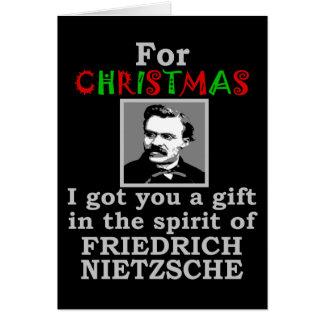 Carte Noël d'humour de Nietzsche