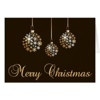 Carte Noël d'or