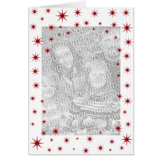 Carte Noël étoilé rouge