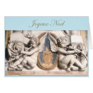Carte Noël français Joyeux Noel avec des anges