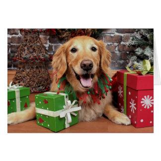 Carte Noël - golden retriever - Sidney