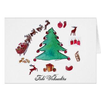 Carte Noël heureux avec le sapin