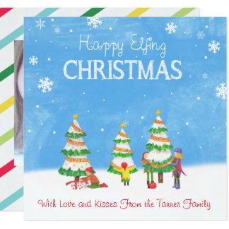 Carte Noël heureux d'Elfing