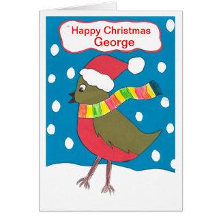 Carte Noël heureux George
