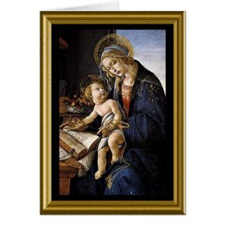 Carte Noël heureux - Madonna et enfant