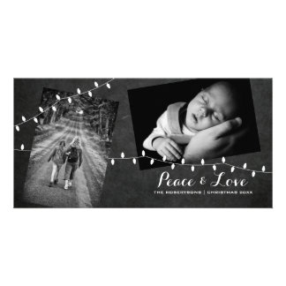 Carte Noël léger d'amour de paix de photos noires de
