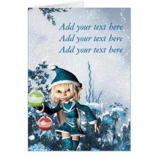 Carte Noël mignon Elf