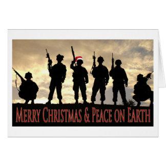 Carte Noël militaire