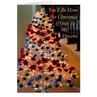 Carte Noël militaire ou non domestique