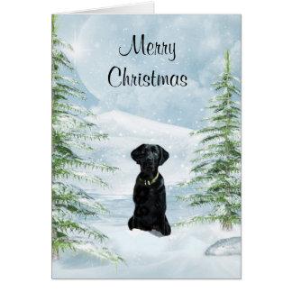 Carte Noël noir de laboratoire