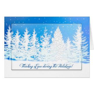 Carte Noël - pensant à vous - le pays des merveilles