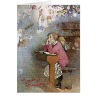 Carte Noël rêvant - honneur C Appleton