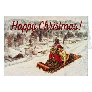 Carte Noël victorien vintage de Milou par le Mac de