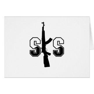 Carte Noir de logo de fusil d'assaut de SKS