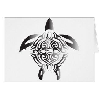 Carte noir-et-blanc-tortue