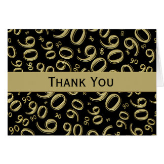 Carte Noir/or de Merci au-dessus du quatre-vingt-dixième