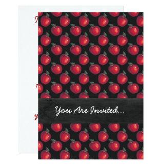 Carte Noir rouge de pommes