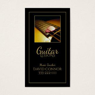 Carte noire classique de professeur de musique de