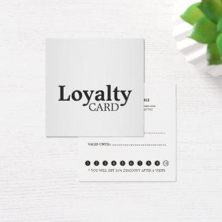 Carte noire élégante de fidélité d'argent de FAUX