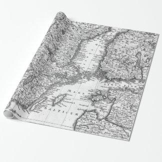 Carte noire et blanche d'enveloppe de cadeau de la papier cadeau