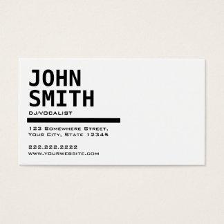 Carte noire et blanche simple d'industrie musicale