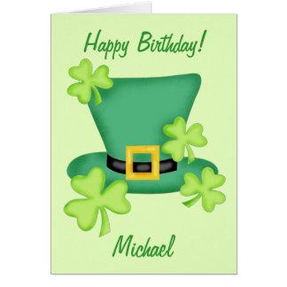 Carte Nom du joyeux anniversaire de St Patrick