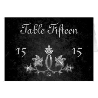 Carte Nombre roman foncé gothique élégant de table de