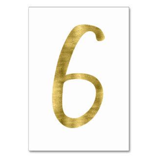 Carte Nombres de Tableau avec l'effet numéro 6 de