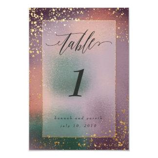 Carte nombres painterly de table
