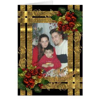 Carte normale élégante de Noël pour votre photo