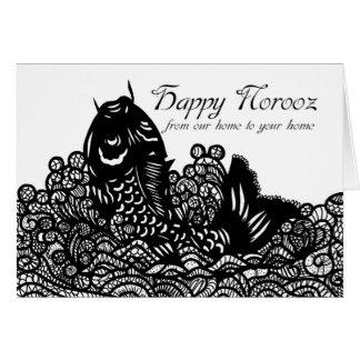 Carte Norooz heureux - nouvelle année persane -